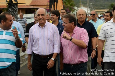 Paulo Souto e Geddel Vieira Lima visitam interior da Bahia.