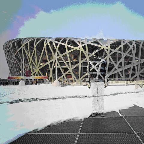 Liu Bolin, National Stadium
