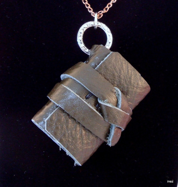 Leather Journal Pendant