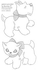 unknown puppy and cat pattern