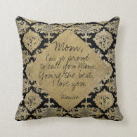 Message to Mom Pillows