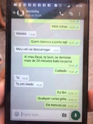 Em mensagem enviada para amiga minutos antes do crime, Ana Lívia disse que estava com medo (Foto: Kléber Teixeira/Inter TV Cabugi)