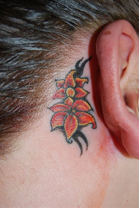 feminine ear tattoos girls design ideas