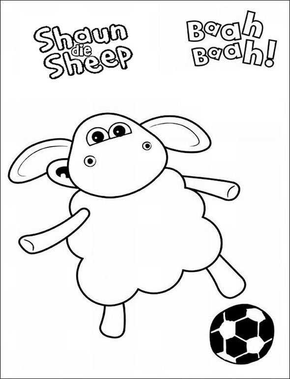 Ausmalbilder kostenlos Shaun das Schaf 6 | Ausmalbilder ...