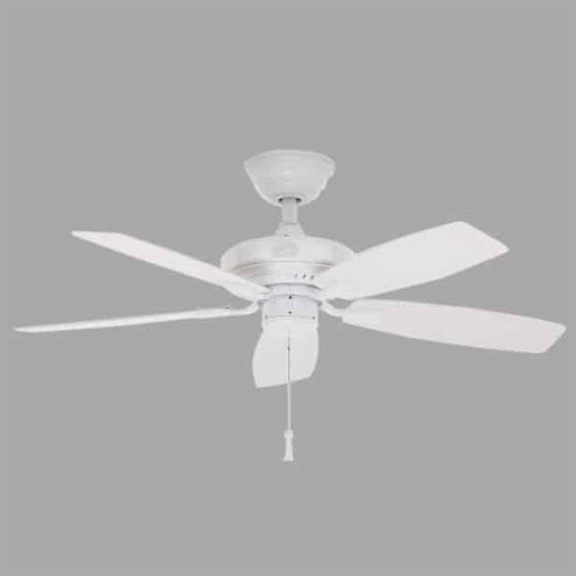 Gazebo II 42 in. Indoor/Outdoor White Ceiling Fan | Hampton Bay Ceiling Fans Lighting & Patio Furniture Outlet