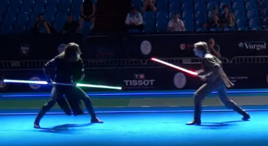 World Class Fencers Put On A Lightsaber Battle That's Real As Hell