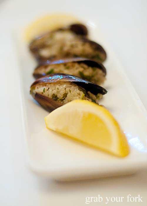 stuffed mussels