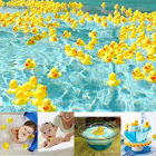 (100pcs) - Sohapy 100pcs Mini Yellow Rubber Ducks Baby Shower Rubber Ducks, Squeak Fun Baby Yellow Rubber Bath Toy Float Fun Decorations for Shower Bi