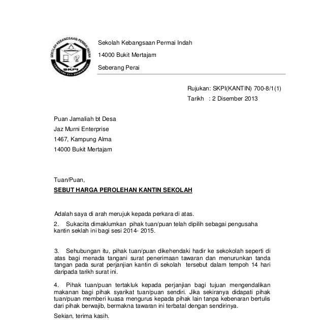 Surat Kiriman Rasmi Aduan Sampah Di Kawasan Perumahan Surat Rasmi J