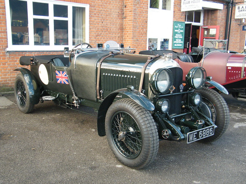 Brooklands New Year's Day 2013 - 1930 Bentley 4 1/2 litre