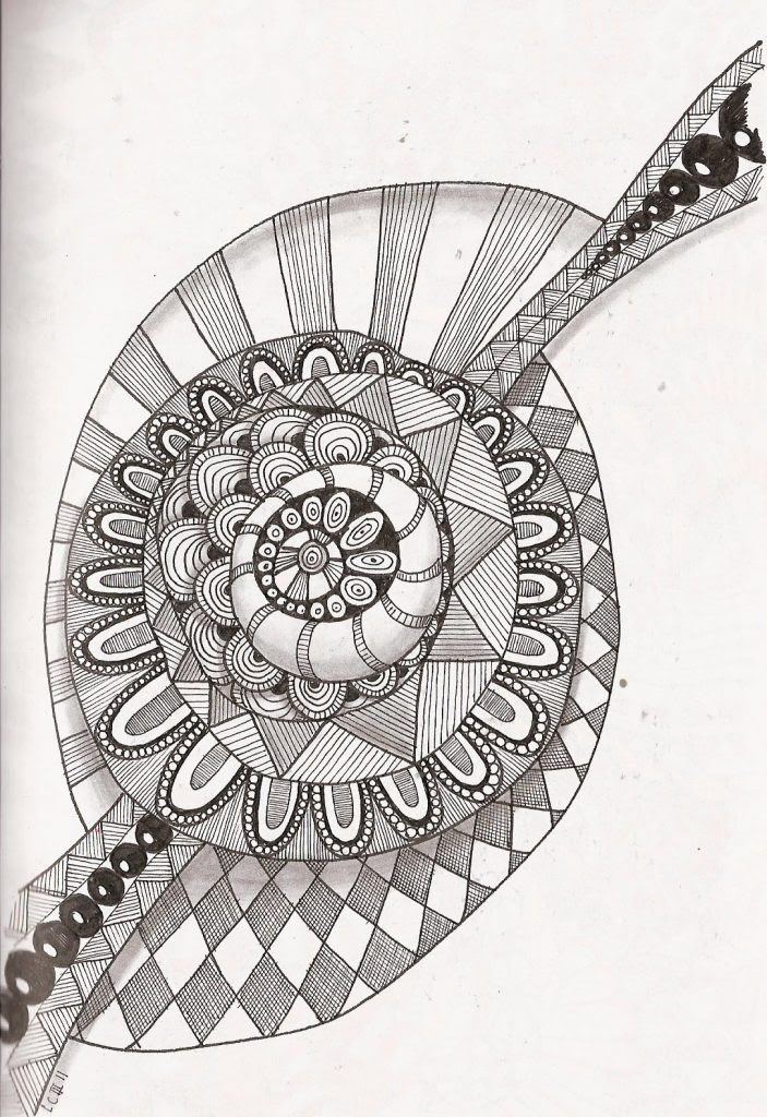 Free Printable Zentangle Coloring Pages for Adults