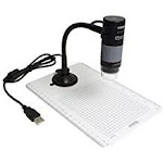 Plugable Technologies USB2-MICRO-250X Plugable USB Digital Microscope 250X Magnification Flexible Stand - White
