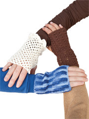 Knit & Crochet Fingerless Gloves Pattern