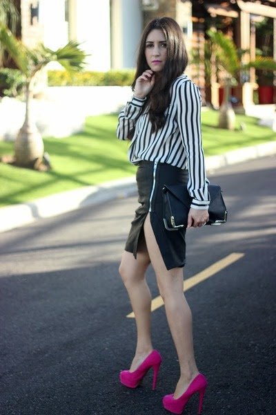 black Sole Society bag - off white Sheinsidecom shirt - black Local store skirt