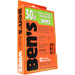 Bens Tick & Insect Repellent, Wipes - 12 pack, 0.12 fl oz wipes