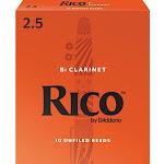 Rico BB Clarinet Reeds 10 pack,2.5