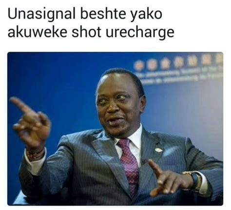 Guy Storytelling Using Uhuru Kenyatta Memes Is The Most