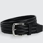 Daytona Braided Leather Stretch Belt - Black