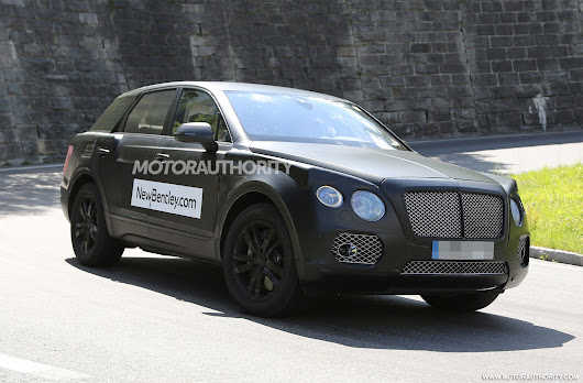 2016 Bentley SUV Spy Shots (With Interior)