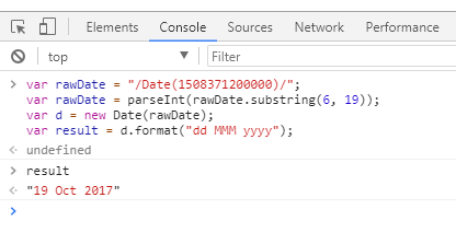 Convert SharePoint Date to Readable date format using jquery