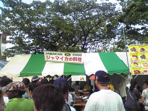 Jamaican food stall