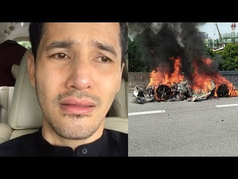 Kereta Ferrari Datuk Alif Syukri Terbakar