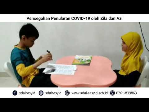 Kampanye Pencegahan Penularan COVID 19 oleh Zila dan Azi