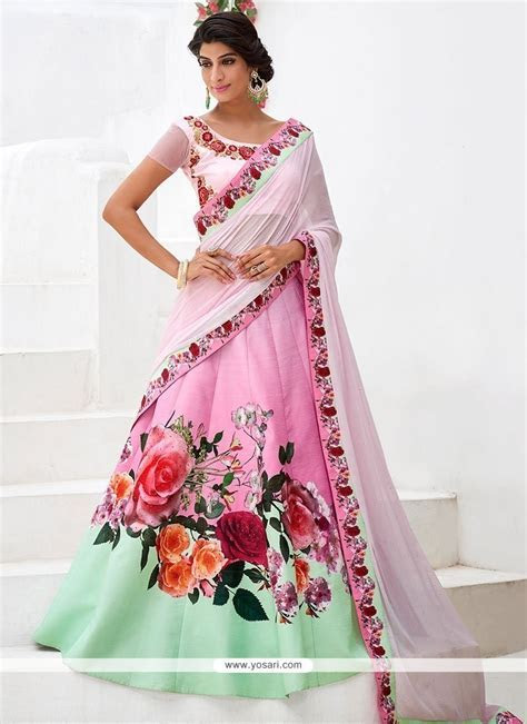 Buy Modern Print Work A Line Lehenga Choli   Wedding