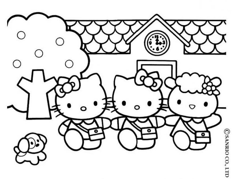 Hello Kitty Info Coloring Home