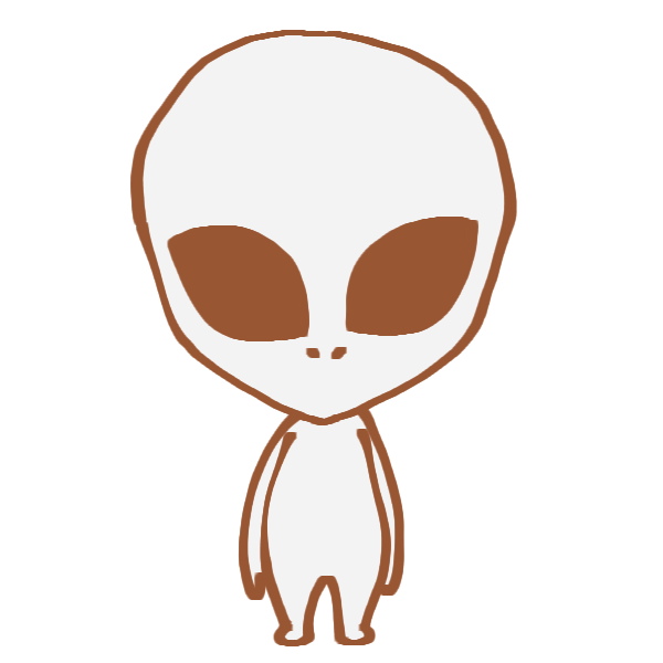 宇宙人のイラスト かわいいフリー素材が無料のイラストレイン