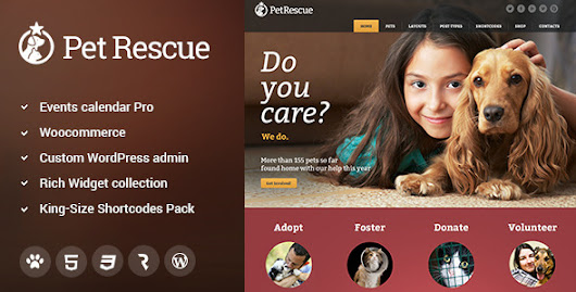 Download Pet Rescue - Animals and Shelter Charity WP Theme nulled | OXO-NULLED