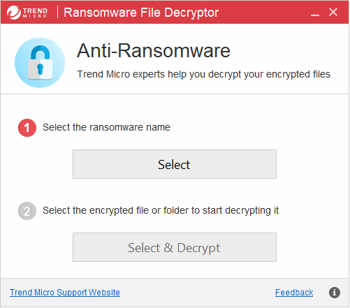 Decrypt Files Encrypted By Ransomware with Trend Micro