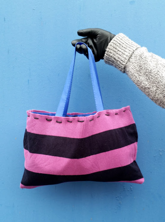 Simple #DIY Sweater Totebag