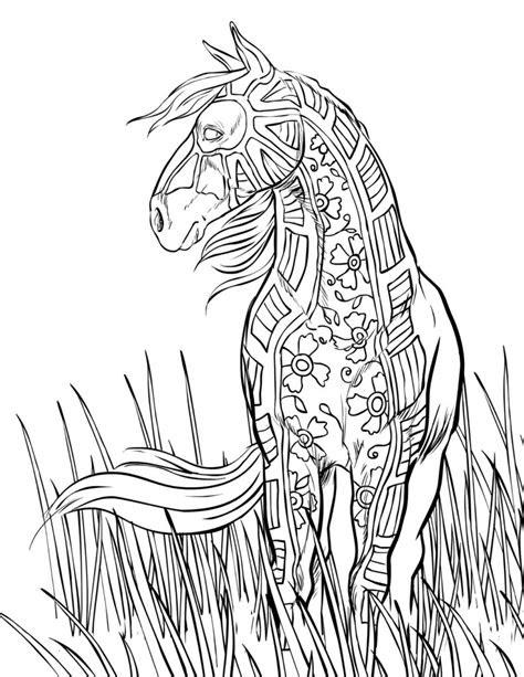 horse coloring pages  adults kids cowgirl magazine