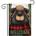 Briarwood Lane BLG00905 Woodsy Bear Welcome Garden Flag