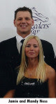 Trainer Jamie Ness and his wife Mandy Ness