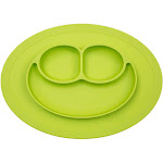 Ezpz Mini Mat Placemat and Plate, Lime Green