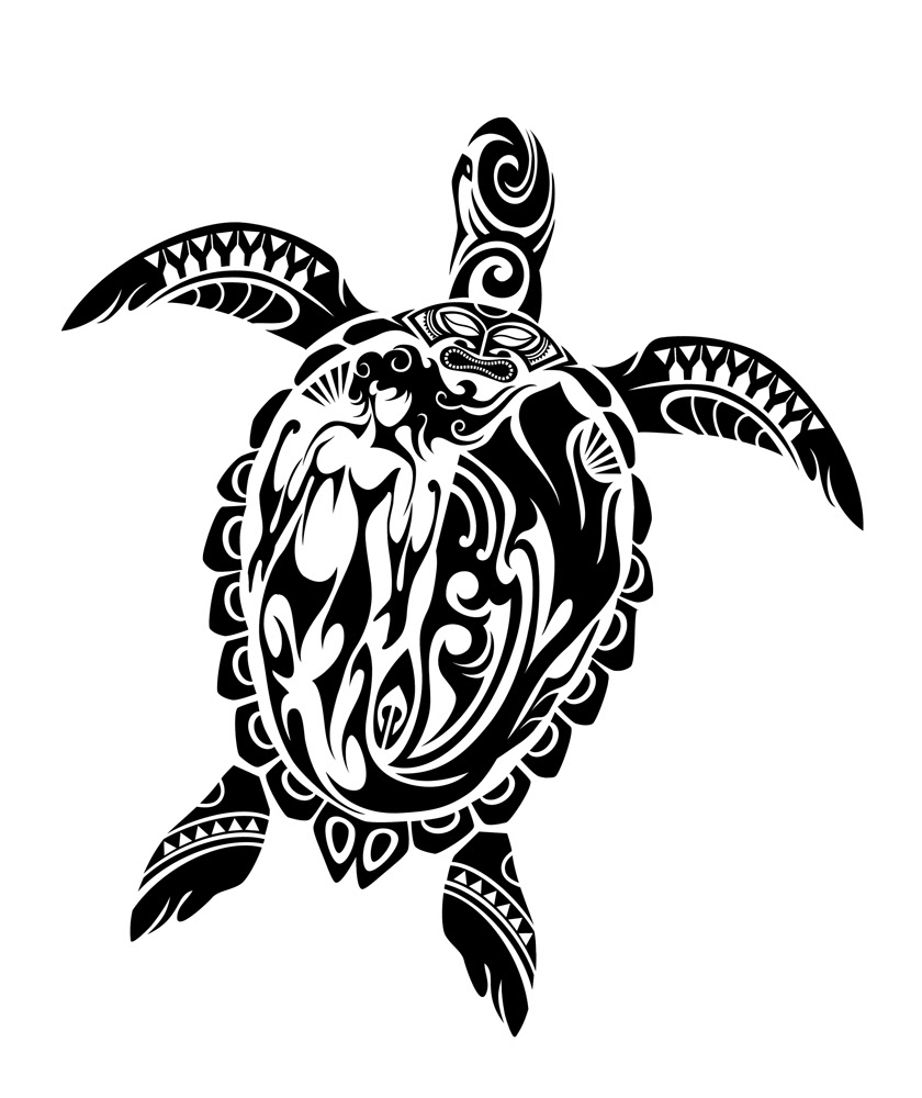 7 Beautiful Tribal Sea Turtle Tattoo