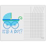 It's a Boy - Baby Boy Carriage Chore List Grid Dry Erase Board