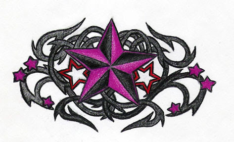 awur awuran nautical star tattoos on lower back. Black Bedroom Furniture Sets. Home Design Ideas