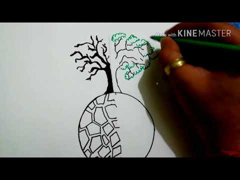 Keren Poster Save Earth Drawing Easy Koleksi Poster