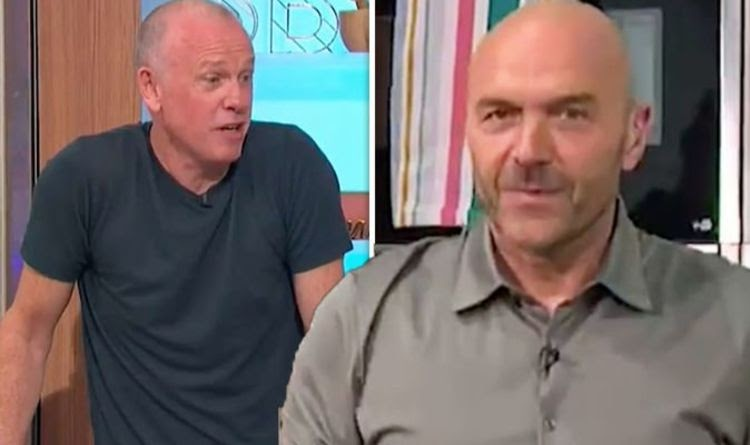 Simon Rimmer, apresentador do Sunday Brunch, rebate o colega Tim Lovejoy por uma brincadeira zombeteira em casa | Notícias de celebridades | Showbiz e TV 2