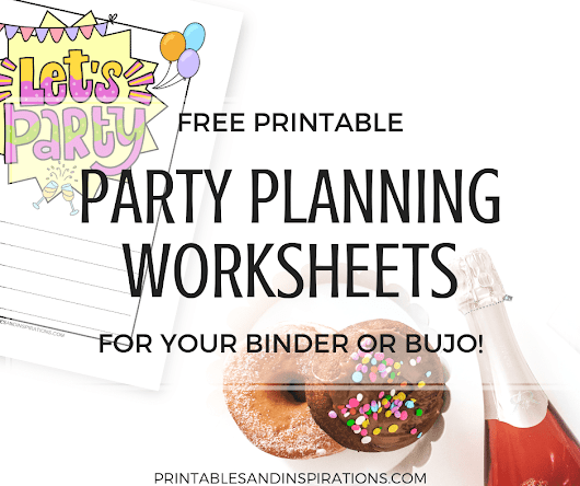 Free Party Planner For Your Happy Party Ideas!