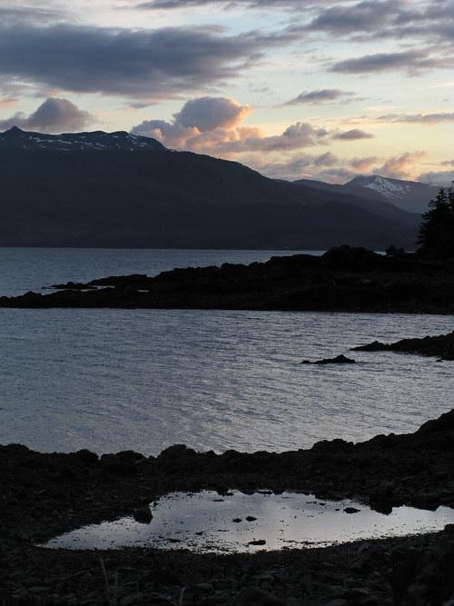 clouds at sunset, Kasaan, Alaska