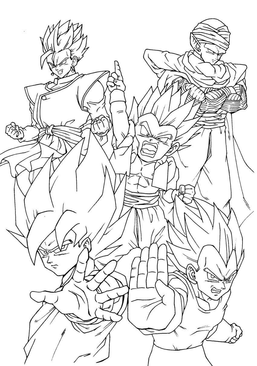 72 Dragon Ball Super Coloring Pages Free , Free HD Download