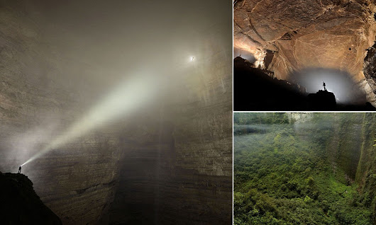 The cave so huge it has its own weather system: Cavers explore a lost