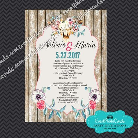 Charro Wedding Invitations, Vaquero Wedding Invitations