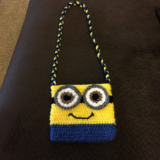 Crochet Minion Purse by AmysCraftingCorner1 on Etsy