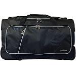 Travolution DFR-1168 23 in. Wheeled Duffel Bag with Garment Rack - Black with Grey Trim