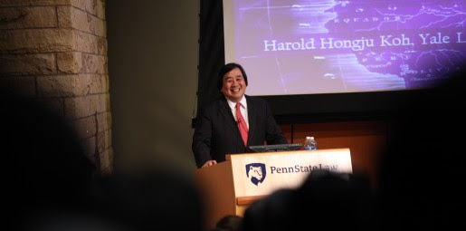 Former State Department Legal Adviser Harold Koh speaks at Penn State Law